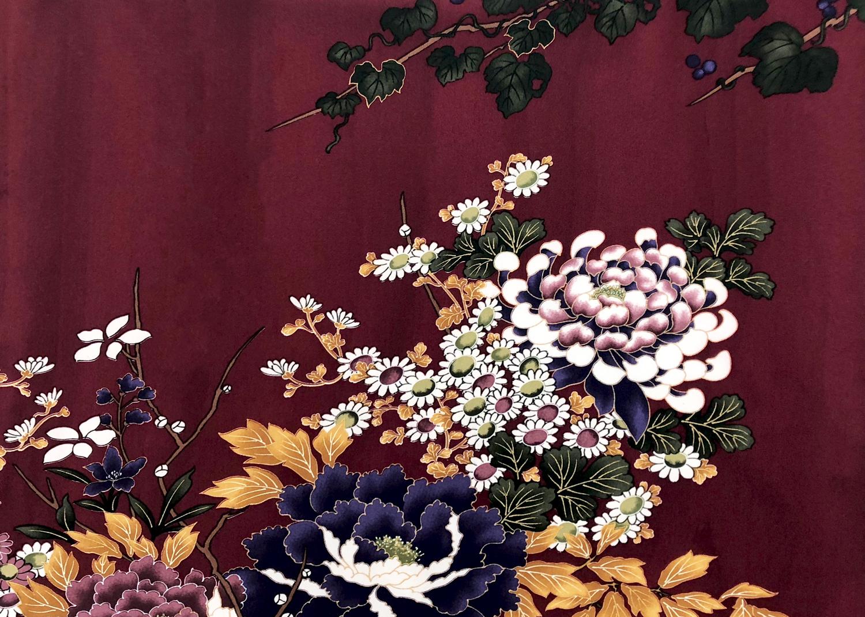 蔦と菊牡丹