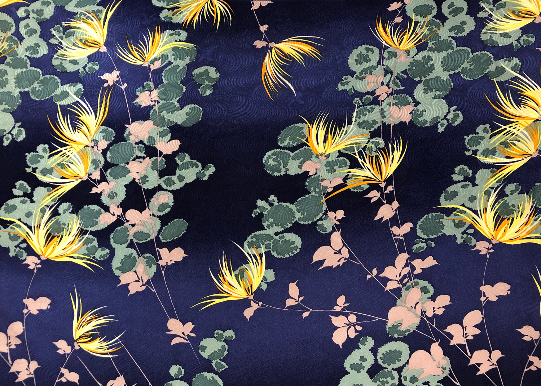 菊に常盤木