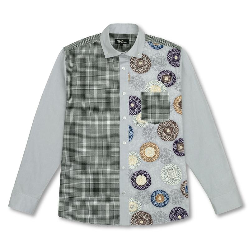 切替ボタンダウンシャツ
