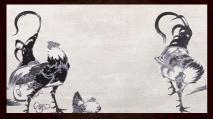 鶏図押絵貼屏風