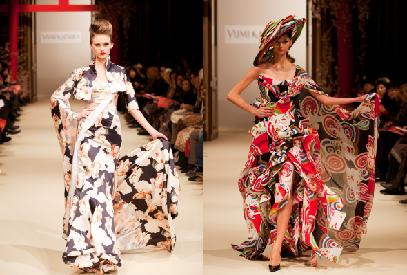 Pagong Paris Debut - Pagong Yuzen Fabric Used by Fashion Designer Ji Haye for Haute Couture Spring/Summer 2011 Collection